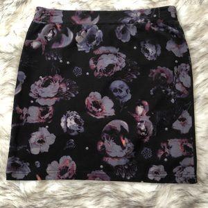 H&M Divided floral skull skirt size 4